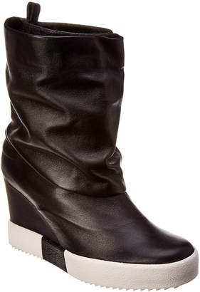 Giuseppe Zanotti Lorenze Leather Wedge Sneaker Bootie