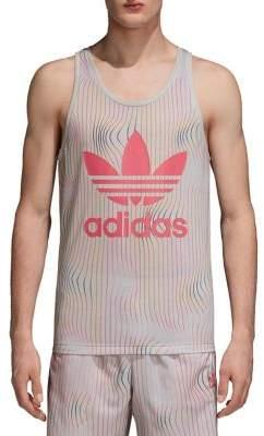 adidas Striped Logo Tank