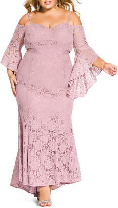 City Chic Mesmerize Lace Maxi Dress