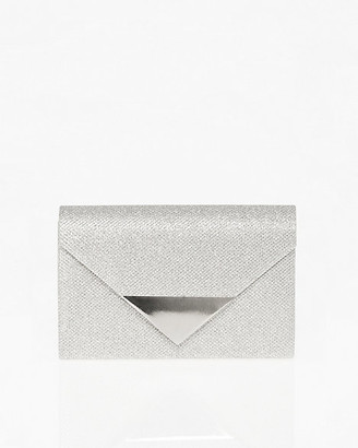 Le Château Glitter Mesh Envelope Clutch