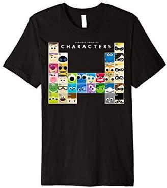 Disney Pixar Movie Characters Periodic Table Premium T-Shirt