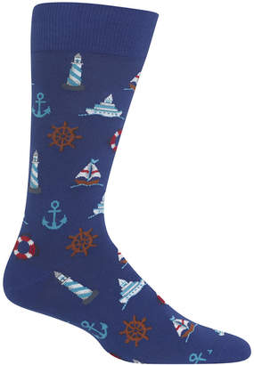 Hot Sox Men's Nautical Icons Socks