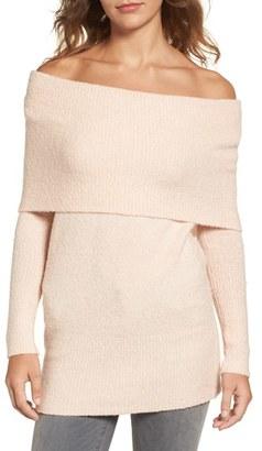 Women's Trouve Off The Shoulder Tunic $89 thestylecure.com