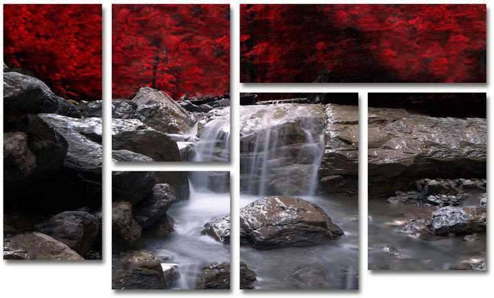 Red Vison Wall Art Set of 6