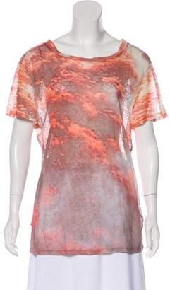 Etoile Isabel Marant Printed Short Sleeve Blouse