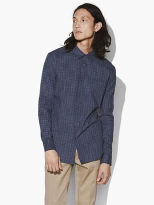 John Varvatos Roll Sleeve Check Shirt