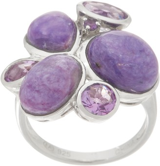 Mixed Gemstone Statement Ring, Sterling Silver