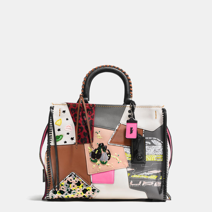 COACH Coach Rogue In Embellished Patchwork Mixed Materials
