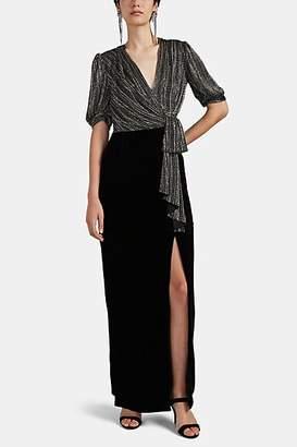 J. Mendel Women's Beaded Silk & Velvet Gown - Black