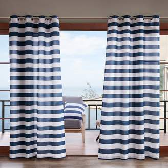 Madison Park Cabana Stripe 3M Scotchgard Outdoor Window Curtain