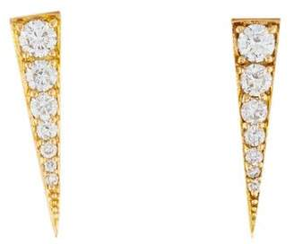 Anita Ko 18K Diamond Dagger Earrings
