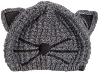 Karl Lagerfeld Choupette Glitter Details Beanie Hat