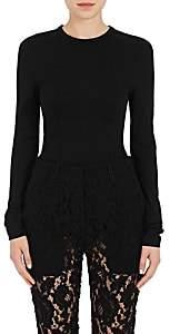 Proenza Schouler WOMEN'S COTTON-BLEND JERSEY CORSET T-SHIRT-BLACK SIZE S