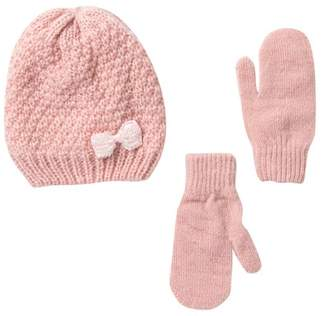 Harper Canyon Bow Hat & Mittens Set