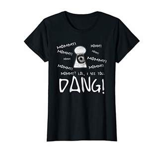 Womens MOMMY I SEE YOU HIDING T-SHIRT FUNNY KEYHOLE