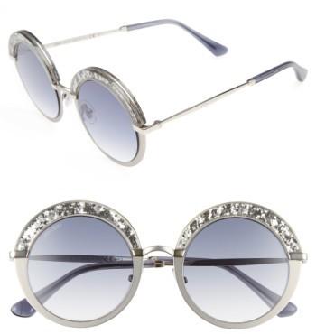 Jimmy ChooWomen's Jimmy Choo Gotha/s 50Mm Round Sunglasses - Light Gold/ Semi Matte