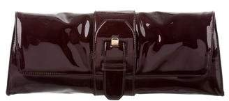 Christian Louboutin Patent Leather Buckle Clutch