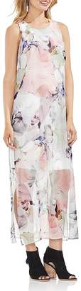 Vince Camuto Diffused Blooms Illusion Maxi Dress