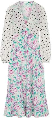 Rixo Melanie Floral-print Silk Midi Dress