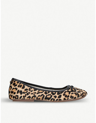 Carvela Magic leopard-print ponyhair ballet flats