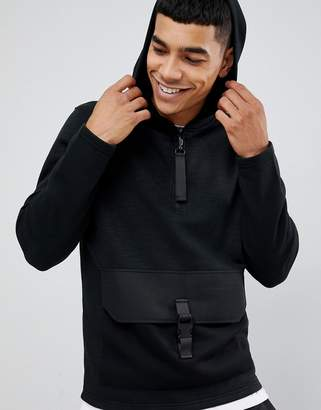 Jack and Jones Core hoodie with clip pouch pocket