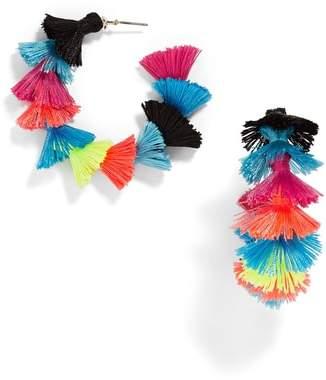 BaubleBar Santina Tasseled Hoop Earrings