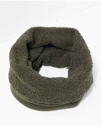 7 For All Mankind Donni Poodle Tube Scarf In Army