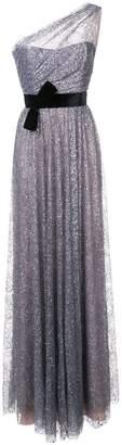 Marchesa glitter one shoulder gown
