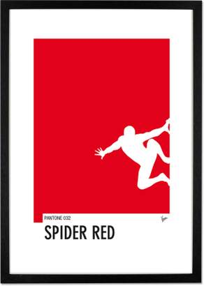 Spiderman My Superhero 04 Minimal Pantone by Chungkong, 42 x 59cm (A2) Framed Wall Art Print