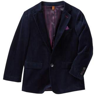 Isaac Mizrahi Classic Two-Button Velvet Blazer (Toddler, Little Boys, & Big Boys)