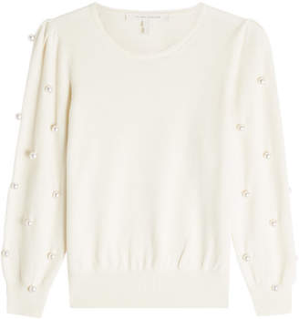 Marc Jacobs Wool Pullover with Faux Pearl Embellishment