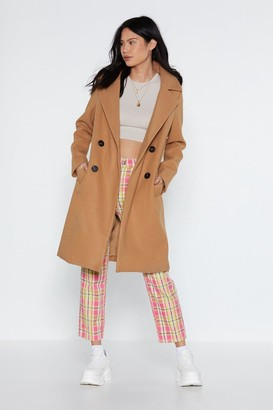 Nasty Gal When It Rains Double Breasted Coat