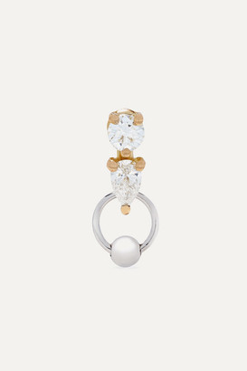 Delfina Delettrez 18-karat Yellow And White Gold Diamond Earring