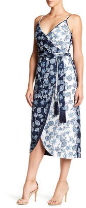 Rachel Rachel Roy Contrast Printed Wrap Midi Dress $159 thestylecure.com