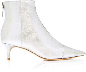 Alexandre Birman Kittie Metallic Leather Ankle Boots