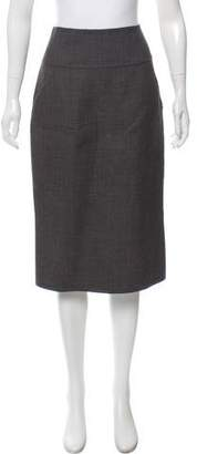 Calvin Klein Collection Wool Knee-Length Skirt