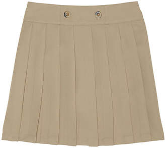 French Toast Front Button Pleated Scooter Skirt - Big Kid Girls