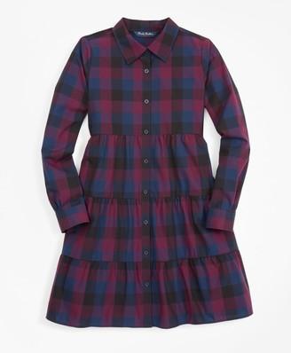 Brooks Brothers Girls Buffalo Check Shirt Dress