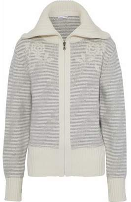 Tomas Maier Embroidered Intarsia Wool Jacket