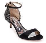 Badgley Mischka Collection Adora Embellished Kitten Heel Sandal