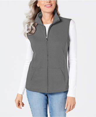 Karen Scott Quilted Fleece Vest