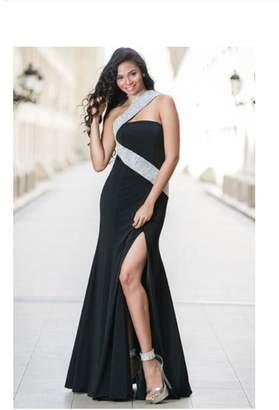 Jovani Embellished Black Gown
