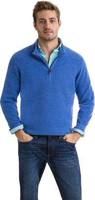 Vineyard Vines Cashmere Mock 1/4-Zip Sweater