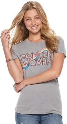 Juniors' Wonder Woman Rainbow Graphic Tee