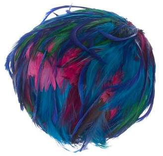 Christian Dior Beaded Feather Hat