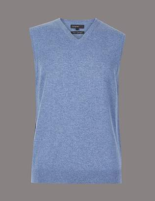 Marks and Spencer Pure Cashmere Sleeveless Jumper