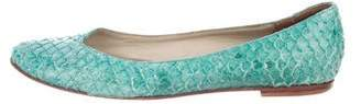 Calypso Embossed Leather Flats