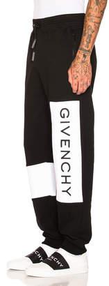 Givenchy Logo Sweatpants in Black | FWRD