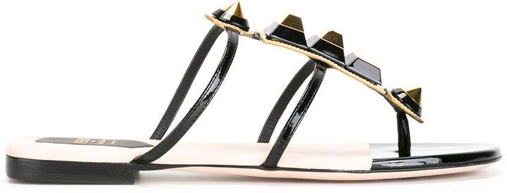 Fendi studded T-bar sandals