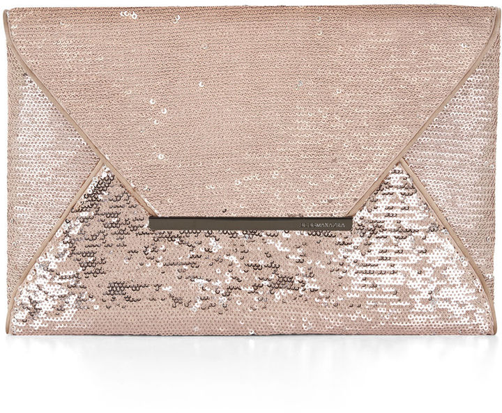 BCBGMAXAZRIA Harlow Sequined Envelope Clutch